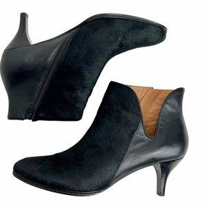 CORSO COMO Millie Leather and Calf Fur Heeled Boot